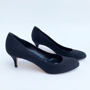 Butter Shoes Black Suede Heel Size 8